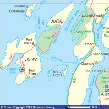 Map of Jura & Islay
